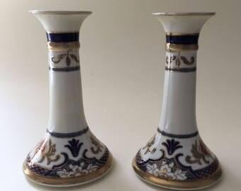 Noritake - pair candlesticks