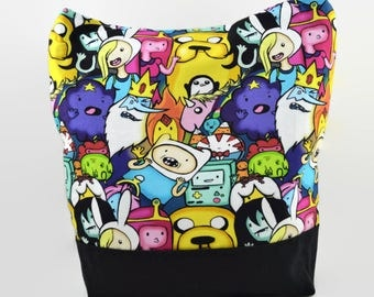 Time for Adventure Tote Bag - Adventure Time Bag - Cartoon Tote Bag - Shoulder Bag - Gift for Her - Gift for Animation Fan