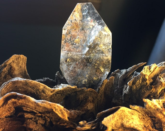 Tourmalined Quartz with inclusions - Drilled
