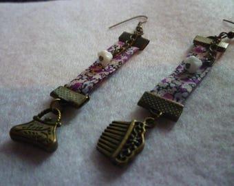 Liberty girly fuchsia earrings