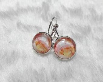 Earrings leaves filigree