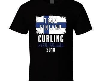 Team Finland Curling Pyeongchang 2018 Olympic T Shirt
