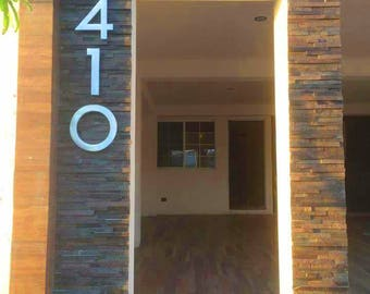Modern House numbers by AluminunX on Etsy
