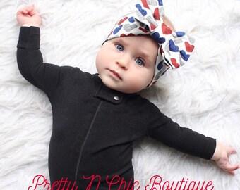 American Sweetheart Bow Headwrap - Patriotic Bow Headwrap