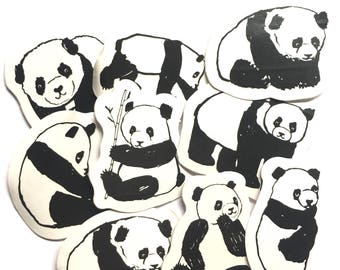 SALE: Panda sticker flakes