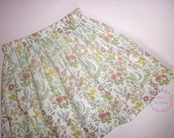 Liberty skirt - wildflower skirt - Liberty of London - floral skirt - summer skirt - girls skirt - vintage - elasticated waist - 0-6 years