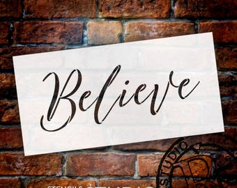 Believe - Cursive - Word Stencil - Select Size - STCL2096 - by StudioR12