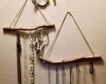 Handmade Bohemian Jewelry Display, branch jewelry holder
