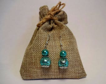 Pearl Earrings * Mint *.