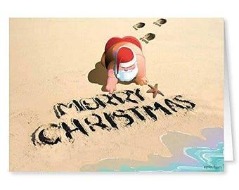 Merry Christmas Beach Sand - 18 Cards & 19 Envelopes -30029
