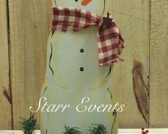 Primitive Snowman Rustic Christmas decorations. Rustic snowman Primitive Christmas decor. Small wooden snowman. Snowman decor Snowman sign