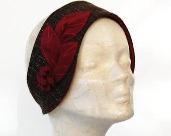 Winter headband. Women's headband. Red Headband. Winter accessories. Earmuff headband