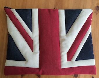 Hand Made Union Flag Padded Laptop Sleeve - Union Jack Laptop Sleeve - Union Jack Laptop Case