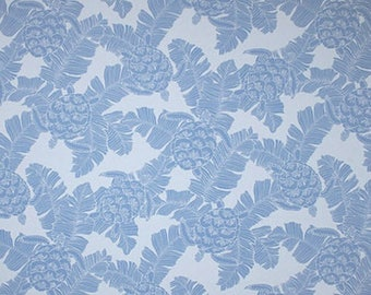 Fabric Tropical Blue Turtle Cotton Poplin, Twill Barkcloth Outdoor Leaf Nature Turtle Polynesian Island Upholstery Sewing Craft
