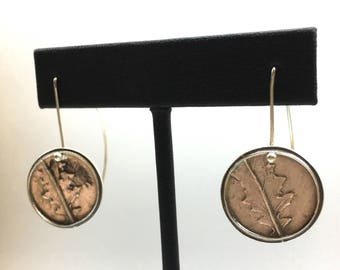 PMC earrings Fine silver earrings Metal Clay earrings USA made Sterling silver ear wires Hand carved earrings Precious Metal Clay Jewelry