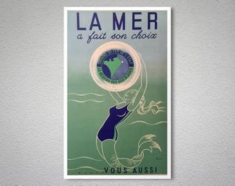 La Mer a Fait Son Choix  Travel Poster - Poster, Sticker or Canvas Print