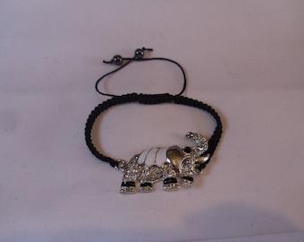 Elephant shamballa bracelet