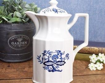 Vintage blue and white Delft design coffee pot