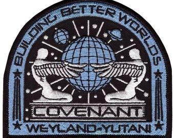 ALIEN COVENANT Movie Weyland Yutani Crew Uniform Costume Prop Iron Patch