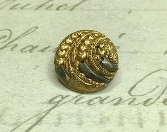Small Antique Claw Picture Steel Cut Era Button 14 mm