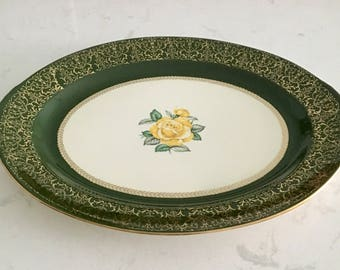 "Lady Greenbriar 15 3/4"" Serving Platter Homer Laughlin Nautilus Lady Greenbriar Platter"