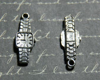 2 charms shows men silver-plated 8x23mm