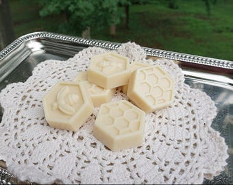 Handmade Honey and Goats Milk Soap Wedding Favors,Bridal Shower Favors, Honey Bee and Honey Comb Hexagonal Soap Favors-Guest Gifts