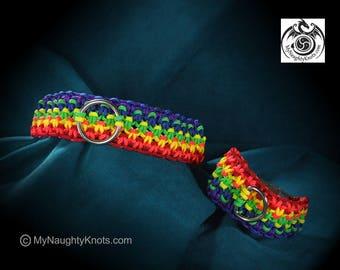 Rainbow Pride Collar and Cuff Set
