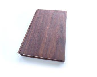 6x9 Walnut Journal Wooden Notebook Gift for Writer Wood Journal Engraved Notebook Wooden Sketchbook Custom Journal Travel Notebook