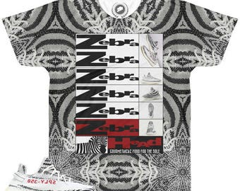 48d96334ab3433 ... Yeezy Boost 350 v2 Zebra Sneaker Match T-Shirt by Chef V7 ...