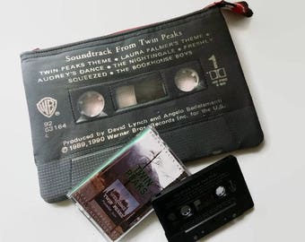 Twin Peaks Soundtrack 80s 90s Large Black Cassette Tape Clutch Retro 80s Music 90s Music 80s TV 90s TV David Lynch Movie Clutch Purse Wallet