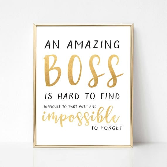 Thanking Quotes For Boss: Digital Boss Quote Gift Best Boss Quote Gift Boss