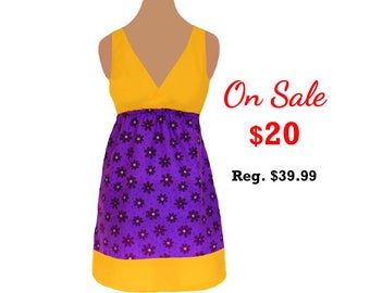 Purple + Bright Gold Floral Game Day Dress