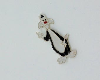 Sylvester the Cat Pin Badge Looney Tunes 70's  Vintage