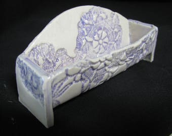 business card holder/desk accessory/ceramic card holder/fun for your desk/office gift/ fun gift/desk organizer/fun card holder/ pottery gift