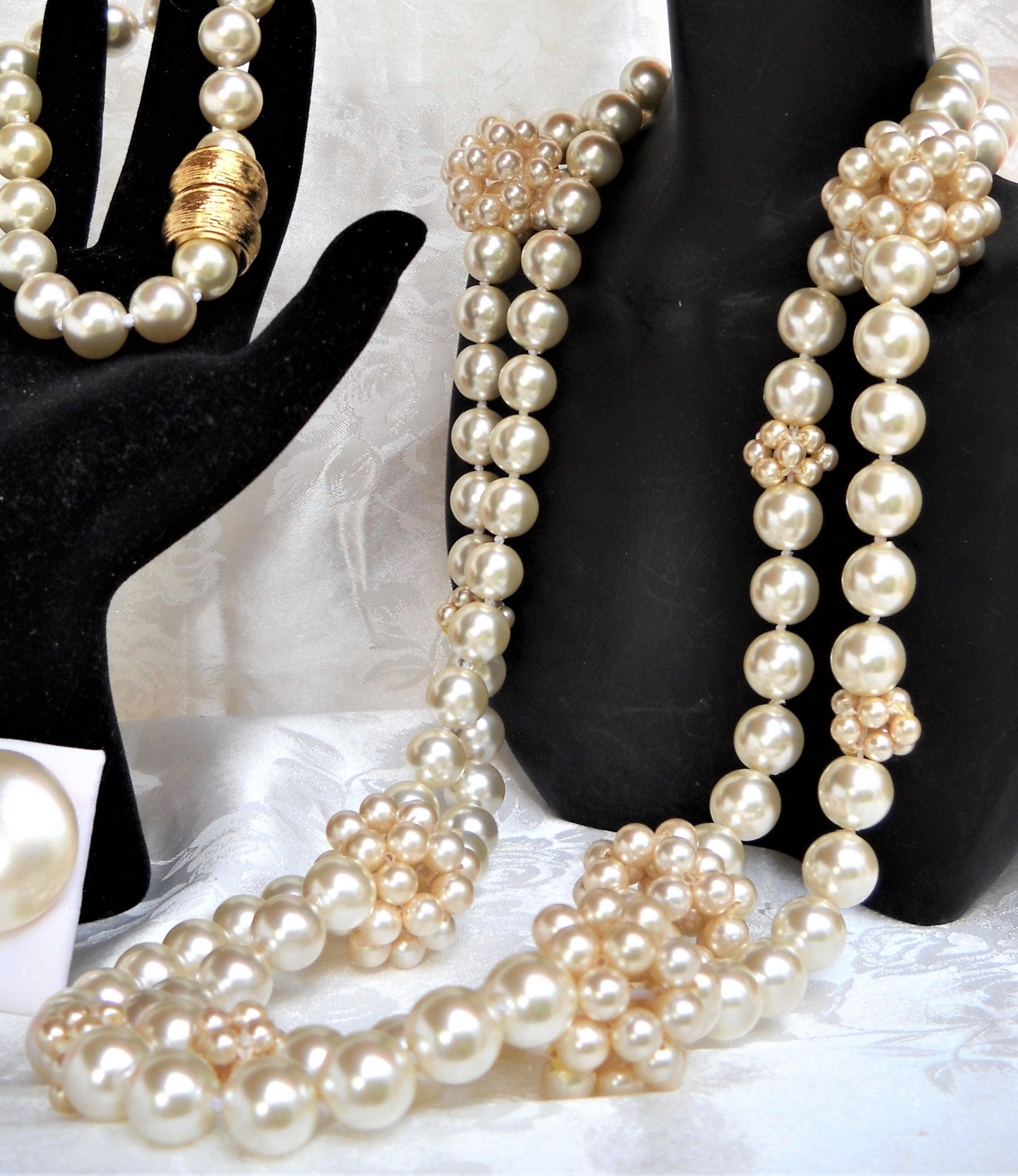 Mallorca Pearl Necklace: Long Majorca/Mallorca Pearl Necklace 10mm White Majorca Pearls