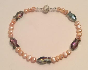 Pearl cat collar, pearl dog collar, beaded collar, small dog collar, fancy collar