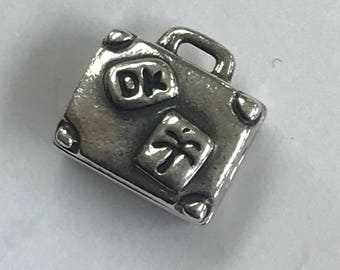 100% Authentic Pandora ALE Sterling Silver 925 Suitcase Charm Bead