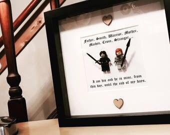 Jon Snow Art - Game of Thrones Gift - Lego Frame