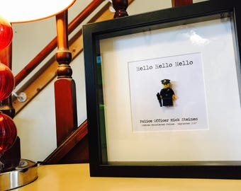 Police Officer Gift - Personalised  Lego®Frame!