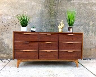 Cavalier Mid Century Dresser - Thin Edge Walnut Unique