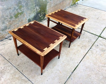 Pair Of Lane Acclaim End Tables Mid Century Modern