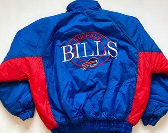 Vintage 1990s Buffalo Bills Zip Jacket Coat Size Medium