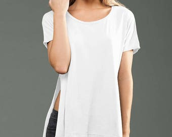 Wholesale Only - Jersey Side Sit High Low Tee