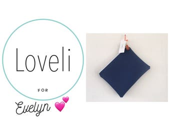 For Evelyn- Navy Blue Purse