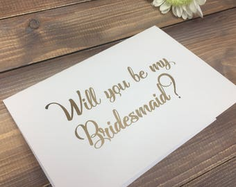Will you be my bridesmaid, maid of honour, flower girl. Wedding Stationey.