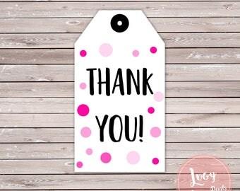 Pink Thank You Printable Tags
