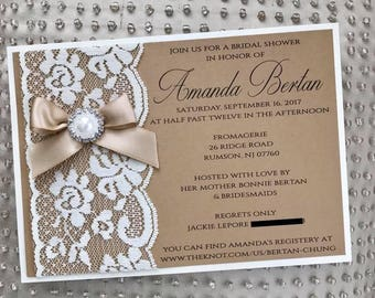 Lace Bridal Shower Invite