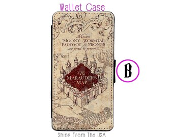 iPhone 7 Case - iPhone 7 Wallet Case - iphone 7 - iPhone 7 Wallet - Harry Potter iphone 7 case B - Marauder Map iphone 7 case
