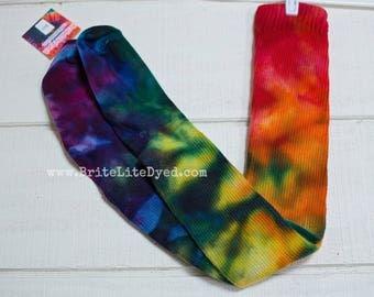 Tie Dye Womens Socks - OS Thigh High Socks - Cotton Socks  - Tye Dye Socks - Thigh Highs  - Tye Dye Socks - Hippie Socks - Dancer Socks